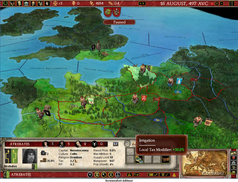 Europa Universalis Rome Gold Edition - Eu rome map